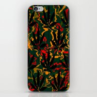 rasta iPhone & iPod Skins featuring Rasta Leaves... by Cherie DeBevoise