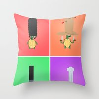 turtles Throw Pillows featuring Turtles! by Wackom