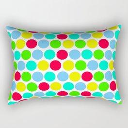 Polka dot, Colors set 3 Rectangular Pillow