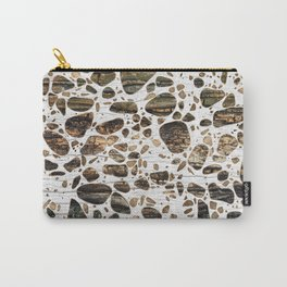 Terrazzo - Mosaic - Wooden texture and gold #4 Carry-All Pouch