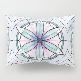 Morse Code Mandala Pillow Sham