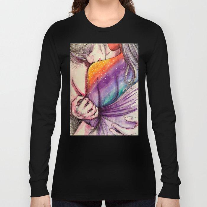 cosmic shoulder kiss Long Sleeve T-shirt