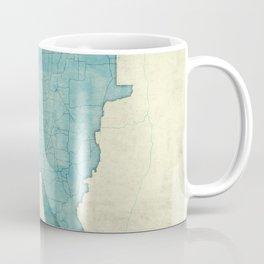 Minnesota State Map Blue Vintage Coffee Mug