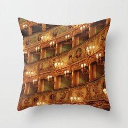 Teatro La Fenice Throw Pillow