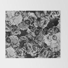 Black Roses Throw Blanket
