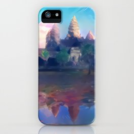 Hazy Reflection Angkor Wat iPhone Case