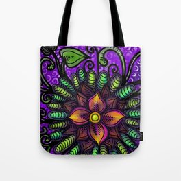 Waterflower Mandala Tote Bag