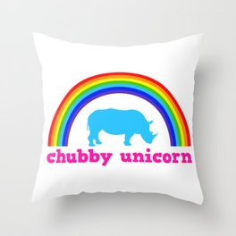 Chubby unicorn Throw Pillow