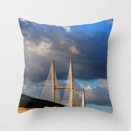 Bridging the Gap Throw Pillow