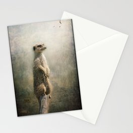 The Watcher on the post... Stationery Cards