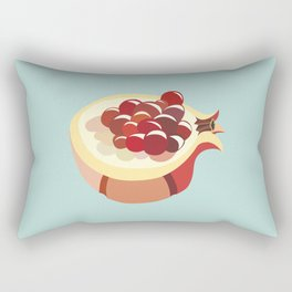 pomegranate fruit illustration Rectangular Pillow