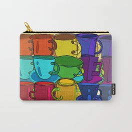 Tea Cups and Coffee Mugs Spectrum Carry-All Pouch