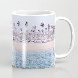 Vintage Newport Beach Print {3 of 4} | Photography Ocean Palm Trees Cool Blue Tropical Summer Sky Coffee Mug