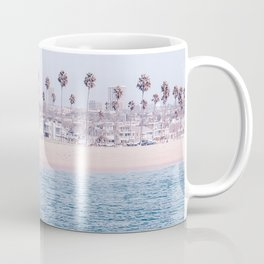 Vintage Newport Beach Print {3 of 4} | Photography Ocean Palm Trees Cool Blue Tropical Summer Sky Coffee Mug