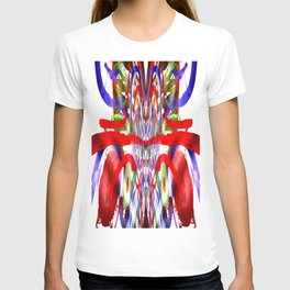 Color and lines in space T-shirt