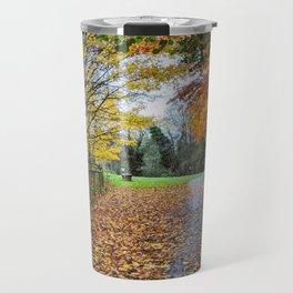 A Stroll Along the Path to Autumn Travel Mug
