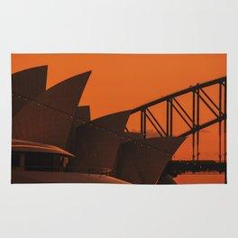 Sydney Opera House at Sunset Rug