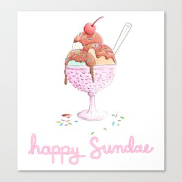 Happy Sundae Canvas Print