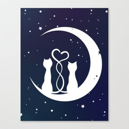 Loving Cats Canvas Print