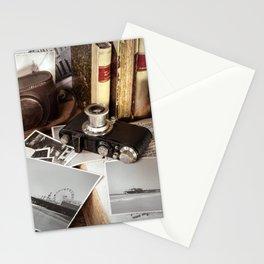 Vintage Photography Equipment Santa Monica Pier Stationery Cards