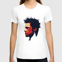 brad pitt T-shirts featuring Brad Pitt Digital illustration by Parveen Verma