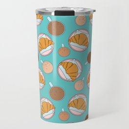 Coffee and croissant pattern Travel Mug
