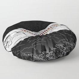 Parthenon black and white Floor Pillow