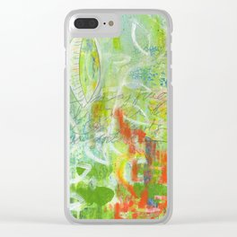 abstract 4 growth and prayer Clear iPhone Case