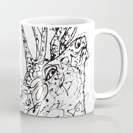 Elk  Dripped Abstract Pollock Style Coffee Mug