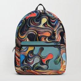 Layered Gloss Drops - Abstract Backpack