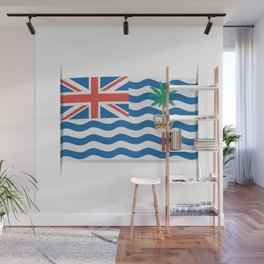 Flag of British Indian Ocean Territory. The slit in the paper with shadows. Wall Mural