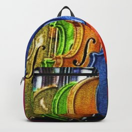 Painted Stradivarius Violins, A Portrait by Jeanpaul Ferro Backpack