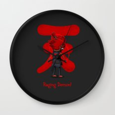 Raging Demon Wall Clock