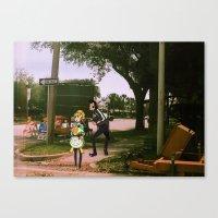 space dandy Canvas Prints featuring Dandy & adelie (St.petersburg FL) (space dandy) by Jackobi Austin