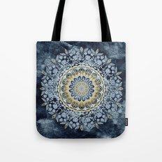Blue Floral Mandala Tote Bag