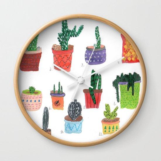 Cactos. Wall Clock