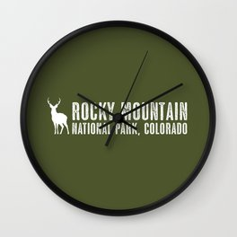 Deer: Rocky Mountain, Colorado Wall Clock