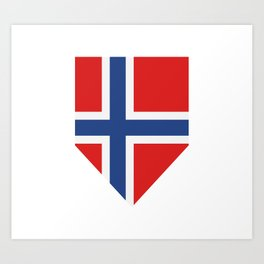 Norway flag Art Print