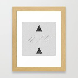 Arrows laced with Noise Framed Art Print