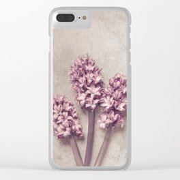 Lovely pink Hyacinths Clear iPhone Case