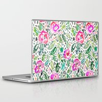 oakland Laptop & iPad Skins featuring Hibiscus Frolic by Barbarian // Barbra Ignatiev