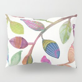 Colorful Leaves Watercolor Pillow Sham