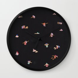 Black night dip Wall Clock