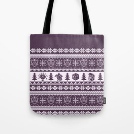 "Roll for Initiative Fair Isle in ""Sugarplum"" Tote Bag"
