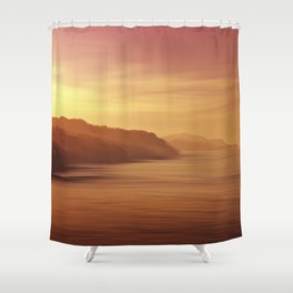 Costa guipuzcoana Shower Curtain