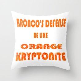 BRONCOS D Throw Pillow