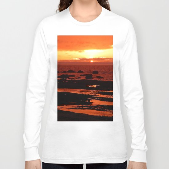 Sunset behind the Circle of Rocks Long Sleeve T-shirt