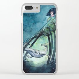 Ocean's lullaby Clear iPhone Case