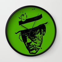 literature Wall Clocks featuring Outlaws of Literature (Hunter S. Thompson) by Silvio Ledbetter