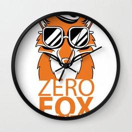 Zero Fox Given Do Not Care Funny Humorous Shirt Wall Clock